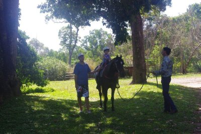 Nadia's first pony ride, Dunk Island