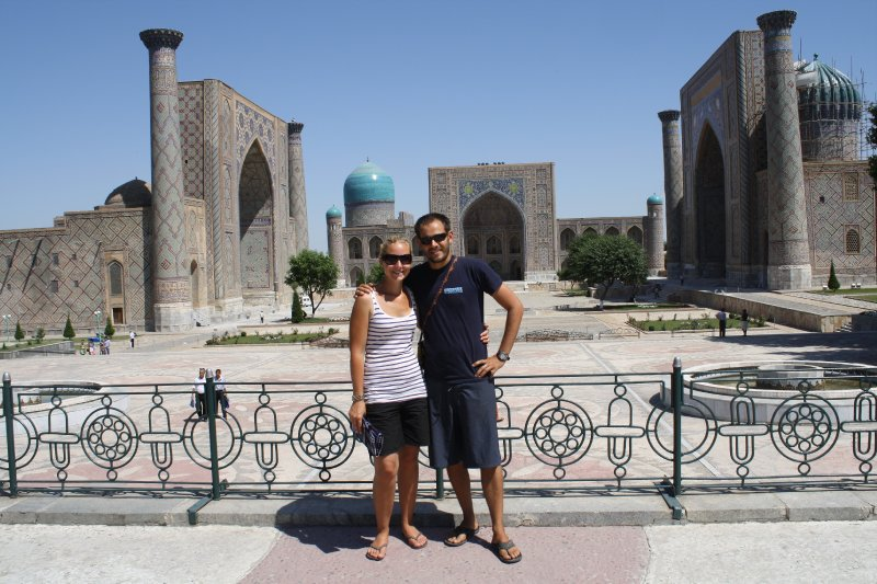 Us at Ragistan Square, Samarkand