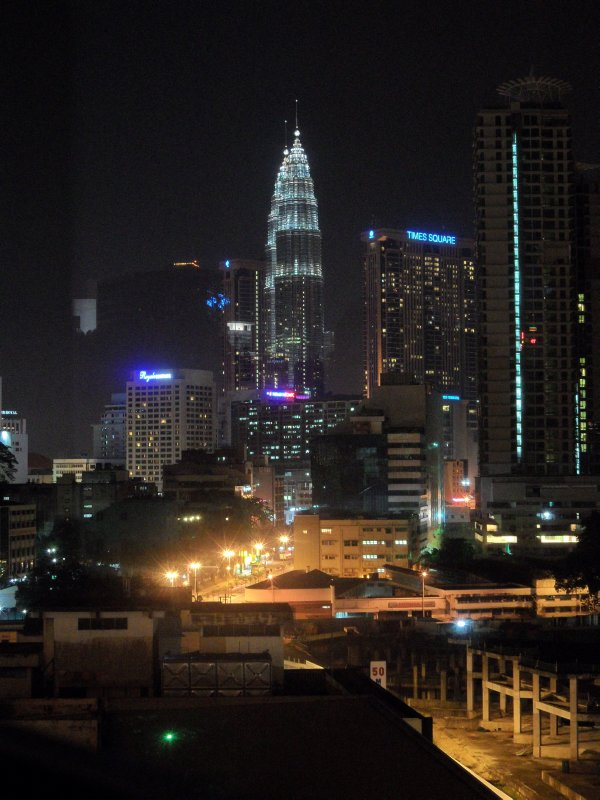 The view from our hotel, Kuala Lumpur