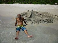 Ben and his sand castle