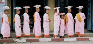 Nuns Collecting Alms