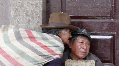 Street beggar Cusco