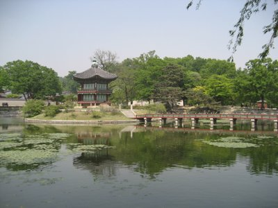 pond at gyeongbok palace
