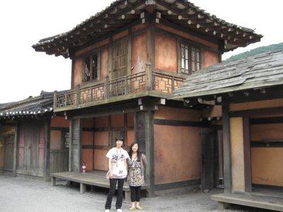 Japanese village set