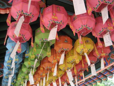 Lanterns with names that are prayed over