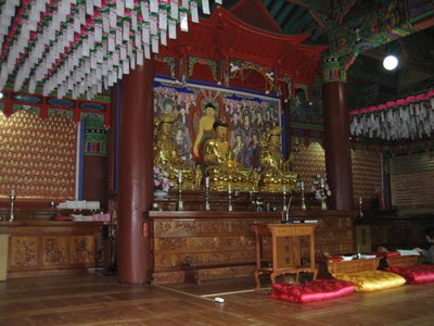 inside the main temple