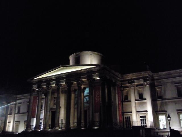 Trafalgar Square one drunk night