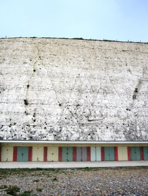 Chalk Cliffs and Beach Huts