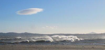 An angry Irish sea
