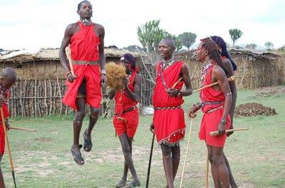 The masai dancers