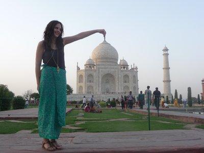 Me picking up the Taj Mahal