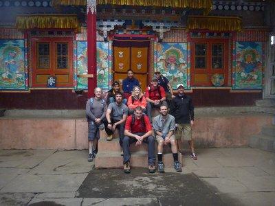 At the monastary - 1st acclimitization hike