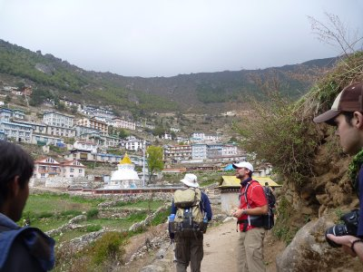 Arriving on Namche
