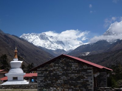 1st view of Everest! (From Tengbouche)