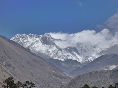 1st view of Everest! (From Tengbouche) 3