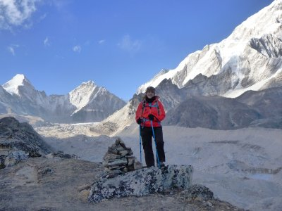 Acclimitization hike (Lobuche) - The Khumbu Glacier is below me on the right