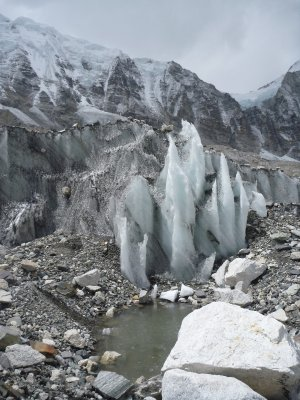 Ice formations at Base Camp