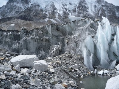 Ice formations at Base Camp 2