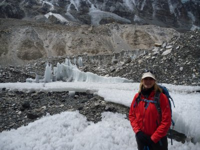 Ice Formations at Base Camp and Me