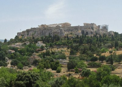 Acropolis from Ancient Agora ruins