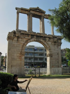Hadrian's Arch, facing Temple of Zeus