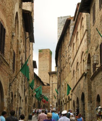 Entering San Gimignano
