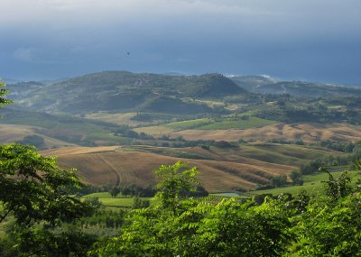 Evening view from Montepulciano