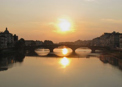 Sunset from Ponte Santa Trinita