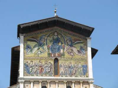 Church of San Frediano facade detail