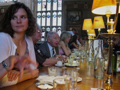 High Table - Robin, Colin and Ruth