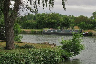 River Cherwell meets the Thames (Isis) narrowboat