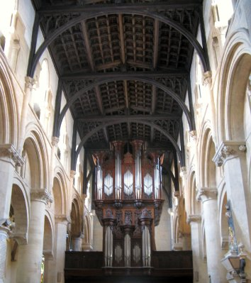 Christ Church - pipe organ and hammerbeam ceiling