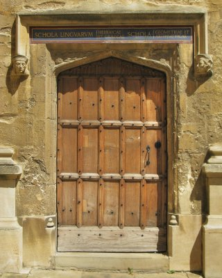 Old entrance in Schools Quad, Bodleian Library