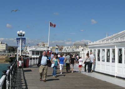 Friendly flag, Brighton pier