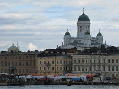 Helsinki southern harbour from Suomenlinna ferry