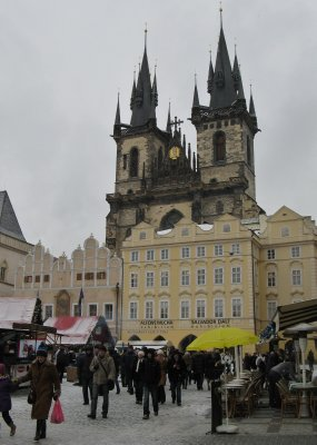 Old town square, Christmas day