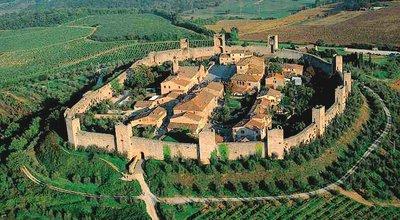 Aerial view of Monteriggioni