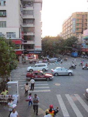 Light traffic in Guangzhou.