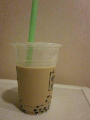 The drink I shall miss most: naicha (milk tea).