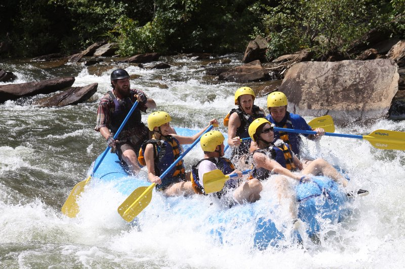 Whitewater rafting down the Ocoee River