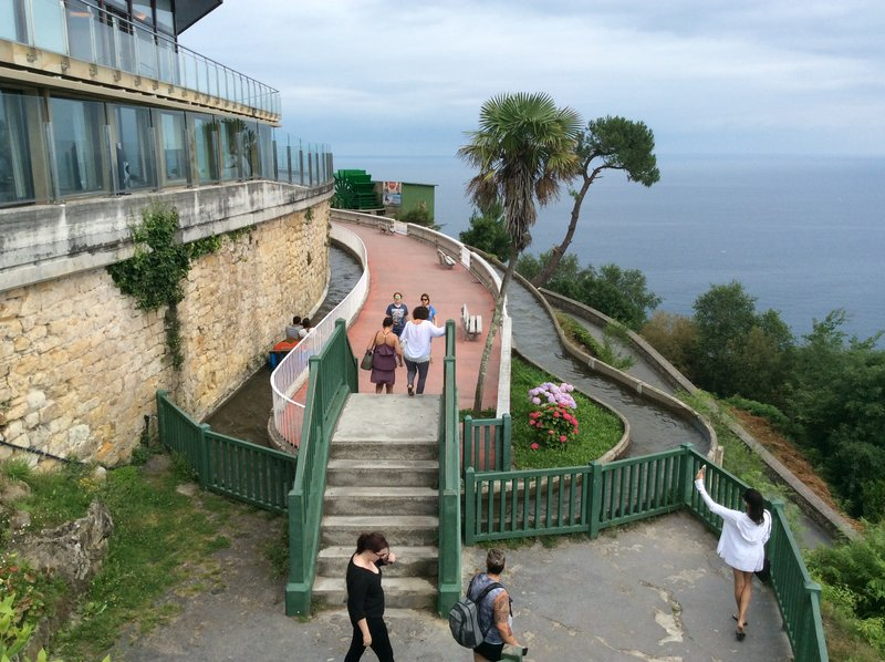 Old flume ride atop Monte Igueldo, San Sebastián