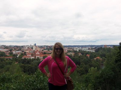 Me with a view of Vilnius