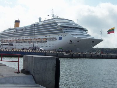 Cruise ship at the Klaipeda port