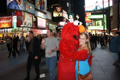 me and elmo in times square