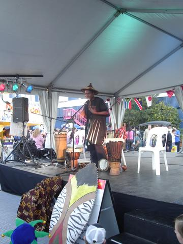 African drumming session at the Ekka- the annual Brisbane fair