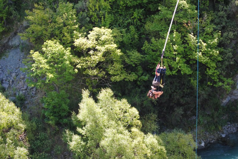 Bungy Jumping Off The Kawarau Bridge