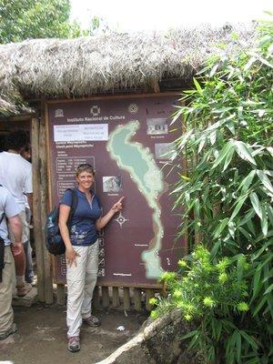 INC_D4 - Joanna at the Waynu Picchu map