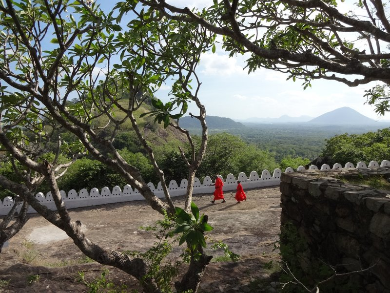 Monks at Dambulla