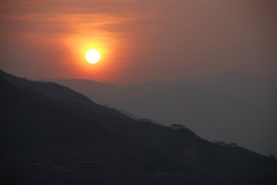 Sunset over Vilcabamba