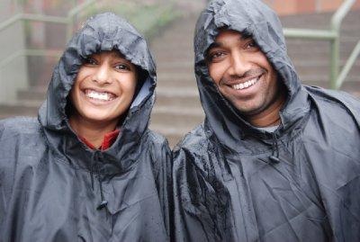 Suyog and Niral looking a bit damp